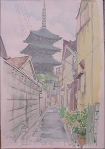 (スケッチ)東寺 五重の塔